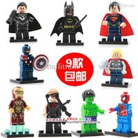 Gros-Decool Building Blocks Super Héros Avengers figures fantastiques Quatre Loki Robin Deadpool Hulk Iron Man Briques jouets Figurines