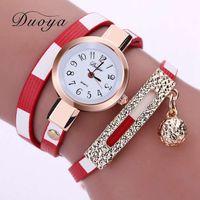 Wholesale Women Watch Chain Long - Duoya Fashion Top Design Women Bracelet Luxury Pendant Long Chain Watches For Women Dress Casual Ladies Quartz Watch XR1857