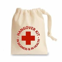 Wholesale Free shiping In Stock natural fabric Cotton Hangover Kits Hangover Kit Bag For Wedding Favours Hen Party Or Stag Do s