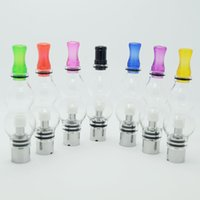 Wholesale types globe atomizer for sale - Group buy Newest double deck glass globe atomizer wax Vaporizer and glass tank replacement gourd type vapor for electronic cigaret