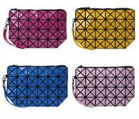 Wholesale zipper plastic gift bags for sale - Group buy Portable Zipper Handbag Women Diamond Lattice Cosmetic Bag Fashion Lady Gift For Multi Color yh C R