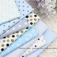 Wholesale Bedding Textile - Twill 8 pcs Cartoon Cotton Fabric for DIY Patchwork Sewing Kids Bedding Bags Dot Tilda Doll Cloth Textiles Fabric 40*50cm