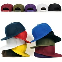 Wholesale Skateboard Blanks - 2015 Brand New Solid Color Blank Women and Men Snapback Baseball Caps Hats Hip Hop Cap Skateboard Street Dance Caps (9 Colors)
