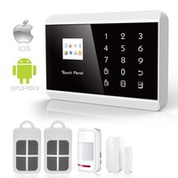 Wholesale Wireless Gsm Pstn - Safearmed TM SF-8218G 2016 New IOS Android APP GSM&PSTN Touch Pad Home Alarm Security System
