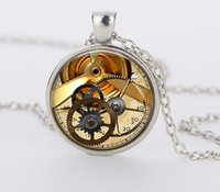 Wholesale Dropship Best Selling - HOT Selling New 2015 Clock Watch Necklace Steampunk Pendant Wholesale Dropship High Quality Best Price