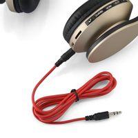 auriculares auxiliares al por mayor-So3 Slo3 Auriculares Bluetooth Auriculares inalámbricos verdaderos auriculares estéreo con micrófono Soporte para auriculares 3.5mm AUX TF tarjeta para iPhone Samsung