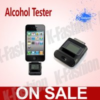 Wholesale Alcohol Tester Iphone 4s - Wholesale-New digital alcohol tester for Iphone 4 , for Iphone 4S LCD breath analyzer , alcohol breath tester , breathalyzer LCD