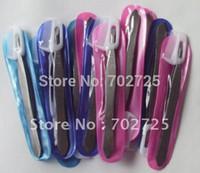 Wholesale Tweezers Eyebrow Combs - Wholesale-2015 HOT High performance cost stainless steel eyebrow tweezers+Eyebrow comb