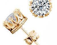 925 ohrstecker großhandel-925 Silber Ohrringe natürlichen Kristall Großhandel Mode kleine Sterling Silber Schmuck für Frauen Stud Männer oder Frauen Ohrringe