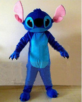 Wholesale Lilo Stitch Mascot - ems free shipping new Best Price Stitch Mascot Costumes lilo and Stitch Cartoon Character Costumes Fancy Dress Adult Size
