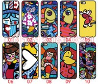 Wholesale Galaxy S4 Girl Cases - Romero Britto Girl For iPhone 6 6S 7 Plus SE 5 5S 5C 4S iPod Touch 5 For Samsung Galaxy S6 Edge S5 S4 S3 mini Note 5 4 3 phone cases