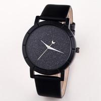 Wholesale unique girls watch resale online - New Watches Moon Stars Design Analog Wristwatch Women Girl Lady Unique Cool Gift Quartz Casual Fashion Watches