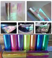 Wholesale Fog Light Film - 0.3x10m(1x33ft) Chameleon Neo clear Headlight Taillight Fog Light Vinyl Tint Film DHL free shipping