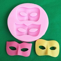 Wholesale 3d Silicone Cake Moulds - 3D Mask Silicone Fondant Mould Cake Decorating Chocolate Baking Mold Sugar craft ZH453