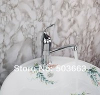 Wholesale Short Basin Mixer Tap - Wholesale-New Short Swivel 360 Chrome Brass Bibcock Kitchen Faucet Spout Vessel Basin Sink Single Handle Deck Mounted Mixer Tap MF-428