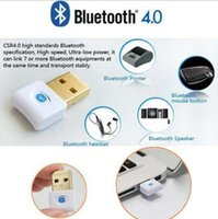 Wholesale Mini Bluetooth Wireless Dongle Adapter - Mini USB Bluetooth V4.0 Dual Mode Wireless Dongle Gold plated connector CSR 4.0 Adapter Audio Transmitter For Win7 8 XP 25