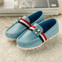 Wholesale Boys Shoe Loafer - J.G Chen Fashion Boys Shoes Children Single Shoes For Boys PU Leather Casual Leisure Loafers Kids Shoes EU 26-36 For Boy