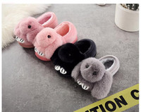 Wholesale muscle rabbit - baby winter new year shoes new items ,new arrival rabbit kids shoes lovely pink grey and black size:14-15-16-17cm