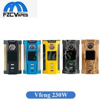 Neueste Original Sigelei Laisimo Snowwolf VFeng 230 Watt Mod Große OLED Display LED Licht Vape Box Mod 100% Original