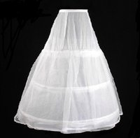 Wholesale Vestidos Crochet Free Shipping - Wholesale Cheap Underskirt A Line Petticoat Two Loops Three Layers In Stock Free Shipping Bridal Underskirt Vestidos