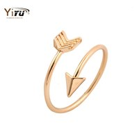 Wholesale Stretch Bands For Rings - Wholesale-Rings for Women 2015 New Fashion Arrow Wrap Ring Adjustable Midi Rings if Silver Gold Ring Stretch Engagement Rings R008