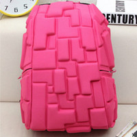 Wholesale Robot Woman - Colorful 3D backpack Red blue black grey day pack Rugged rucksack Newest school bag Robot daypack