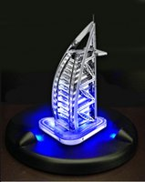 Wholesale Burj Al Arab 3d Puzzle - Wholesale-Hot Sale Christmas Gift LED Lighting Show + 3D DIY Metal Jigsaw Flashing Burj Al Arab Hotel Model 3D Puzzles