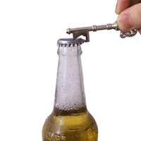 Wholesale Wine Opening Tools - Novelty Keychain Design SUCK-UK Bottle Opener Key Ring Bar Beer Opening Tools 2color for choice free shipping