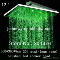 Wholesale 12 Inch Ceiling Shower Head - factory supple 12 inch ceiling mounted remote control led shower head 072626