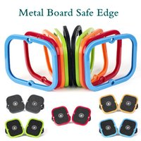 Cheap Wholesale-1 Pair New Freeline Skateboard Driftboard Skate Accessories Silicone Cover Edge Guards 5 Colors For Metal Board Extreme Sport