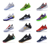 Wholesale Ad Flat - 2017 Kobe 12 XII Ad Black Gold Men Basketball Shoes Cheap Purple Red White Gray Blue Kobe 12s Elite Low Sport Sneakers