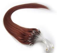 auburn micro loop extensiones de cabello al por mayor-Venta al por mayor Remy Indian Hair 5A 16