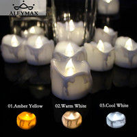 Wholesale wholesale timer candles - 12pcs Timer Function Flickering Tea Candle Romantic Flameless Led Candle Light Lamp Decoration For Home Festival Wedding Party