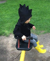 Wholesale Kids Black Hoodies - 2015 Autumn New kids dinosaur hoodies boys and girls jackets baby outerwear Children's coat children garment clothes wear