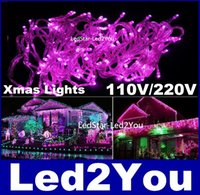 Wholesale Led Christmas Curtains For Sale - Hot Sale Led String Lights 10M 50M 100M Led Lights For Christmas Wedding Party Decoration Lighting AC 110V 220V