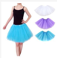 Wholesale Womens Ballet Skirts - Christmas party dresses Adults womens Girls Tutu Party Ballet Dancewear mini short Skirt Pettiskirt Costume European style gift girlfriend