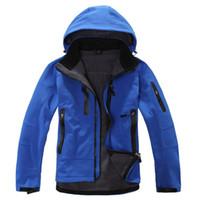 chaqueta termal impermeable al por mayor-Venta al por mayor-2016 Mammoths TX Shell impermeable al aire libre chaqueta de senderismo al aire libre hombres Softshell montañismo Camping esquí ropa chaquetas