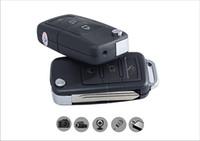 mini anahtarlık kameraları toptan satış-Hareket Algılama ile S818 araba anahtarı pinhole kamera 720 * 480 30fps Mini DVR Araba Anahtarlık video kamera desteği TF kart ile perakende kutu