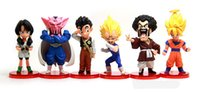 dragon ball z kai figures d'action achat en gros de-Nouvelle vente Dragon Ball Z WCF DWC bataille Dragon Ball Kai Super Saiyan, Goku pvc pièces d'action jouet authentique 6 pièces / set livraison gratuite