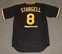 Personnalisé WILLIE STARGELL Pittsburgh Pirates 1979 Majestic Cooperstown Baseball Jersey Rétro Mens Jerseys