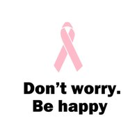 Wholesale happy stickers - Pink Ribbon Vinyl Wall Decal Don't Worry,Be Happy Wall Sticker