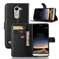 """Wholesale Class Stand - Litchi Wallet Flip PU Leather Case Cover Bag With Card Slots Stand Holder For LG Bello II Ray X190 5.5"""" V10 G4 Pro K7 K10 M2 Class"""