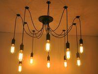 edison stil anhänger großhandel-Edison Design Pendelleuchte Edison Vintage Spider Chandelier pedant Lampe, E27 Edison Chandeliers American Style Led Birnen