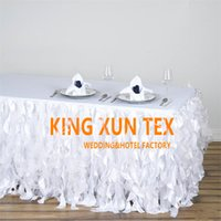 Wholesale nice events - Nice Looking Taffeta Table Skirt \ Table Cloth Skirting For Wedding And Event Decoration Free Door Shipping