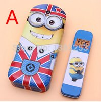 Wholesale Despicable Minion 22 - Wholesale-Despicable Me Minion pen box Four kinds of choice 22*9cm DT-STNB0249