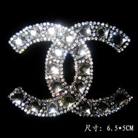 diamantes de imitación de transferencia al por mayor-Al por mayor-libre del envío (2 pc / lot) patrón de colores hot fix rhinestone motivo diseños hierro en transferencias adorno rhinestones