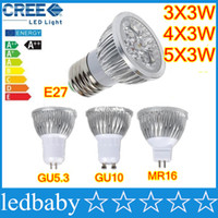 Wholesale High power CREE Led bulbs W W W Dimmable GU10 MR16 E27 E14 GU5 B22 Led spot Light Spotlight lamp lighting