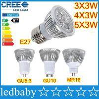 ponto do projetor venda por atacado-O CREE de alta potência conduziu os bulbos 9W 12W 15W Dimmable GU10 MR16 E27 E14 GU5.3 B22 conduziu a iluminação da lâmpada do projector da luz do ponto