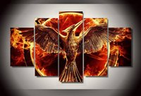 Wholesale Sale Canvas Art Groups - 5 Panel Unframed Printed Hunger Games Group Painting Living Room Bedroom Decor Canvas Art Pictures Hot Sale
