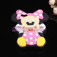 Gros-pour Apple iPhone 4 4s 5 5s 5C 6 6Plus Mickey Minnie Mouse Cover 3D mignon silicone